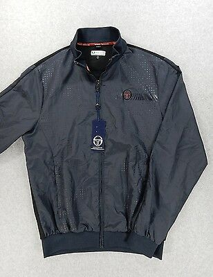 NWT Sergio Tacchini Athletic Tennis Full Zip WarmUp Jacket (Mens Large) Blue