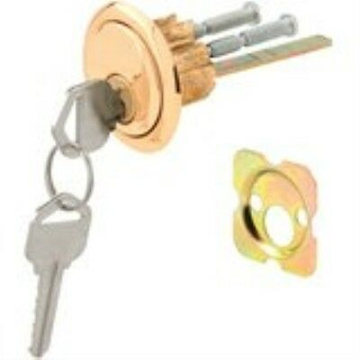 Prime-Line Products U 9965 Rim Cylinder Lock Kwikset/Weiser with Brass Face and