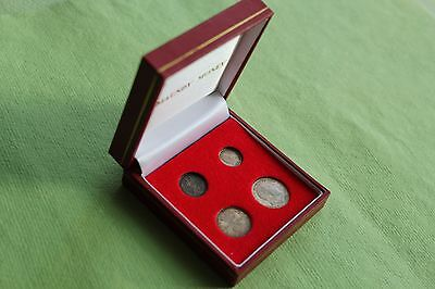 King Edward Vii 1905 Maundy Silver Coin Set In Modern Pres'n Box Nice Collection