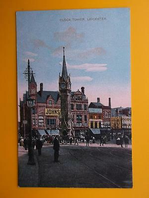 Clock Tower & Shops LEICESTER Leicestershire *Vintage* c1910