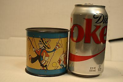 Vintage Tin Litho Ohio Arts Artist Fern Bisel Peat Toy Drum Piggy Bank