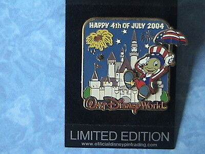 JIMINY CRICKET 4th OF JULY LE PIN ON PIN NEW WDW PIN