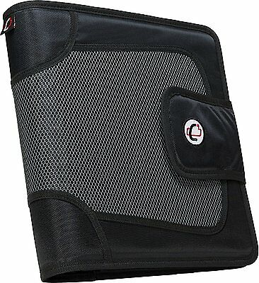 Case-it Velcro Closure 2-Inch Black 3-Ring Tab File Binder Office Organizer