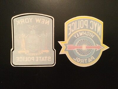 NY-NYC - NYPD Highway Patrol and NY State Police  InWindshield Decals (2 Decals)