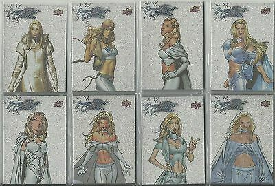 2016 Upper Deck Marvel Gems Exquisite Emma Frost Collection Complete 15 Card Set