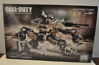 Mega Bloks Collectors Series Call of Duty Atlas Mobile Turret New Sealed 587 PCS