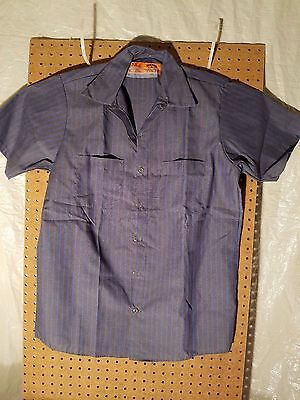 Red Kap Men's Industrial Pocketed Mechanic Work Uniform Short Sleeve Shirts