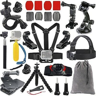 Vanwalk Accessories Bundle Kit for GoPro Hero 5 4 3+ 3 2 1 Black Silver Camer...