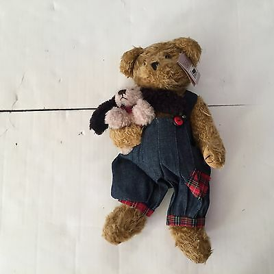 Huckelbeary ~ Bearington Collection ~ Bear with tags and puppy dog