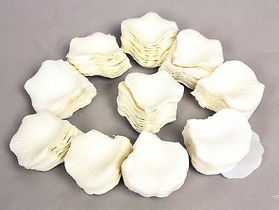 1000 Ivory Silk Rose Petals Wedding Party Decorations Flower Favors