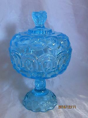 L. G. Wright Glass #44-9 High Footed Moon & Star Compote