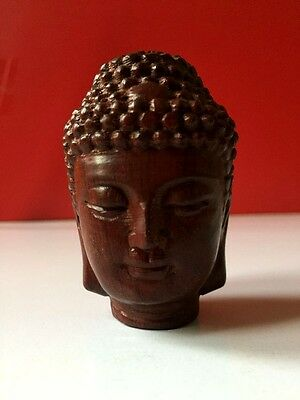 Woodcarving handicraft guanyin Buddha head collect decorations