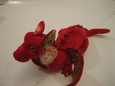 Ty Classic FOSSILS THE RED DRAGON-RETIRED LONG AGO-2007-MWNMT-IN HAND-NICE GIFT