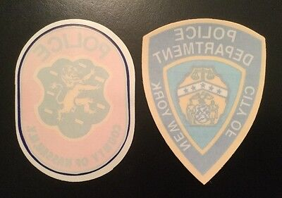 Nassau County Police & NY - NYC,   NYPD Police  In Windshield Decals (2 Decals)