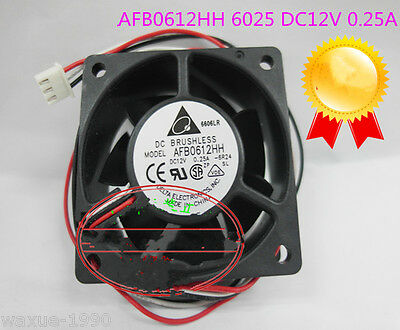 1pcs New Delta 6025 DC12V 0.25A 3 wire cooling fan AFB0612HH