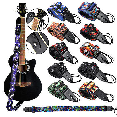 King Long Guitar Straps for Electric Acoustic Bass Adjustable Strap Soft Thick