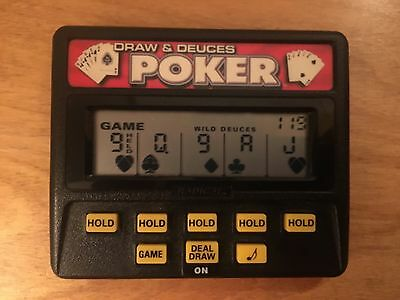 Draw and Deuces Poker Handheld Electronic Game