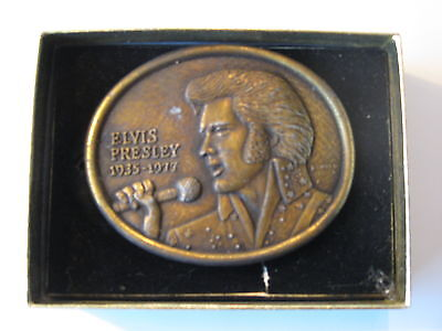 First Edition Elvis Presley Commemorative Belt Buckle with Authentication