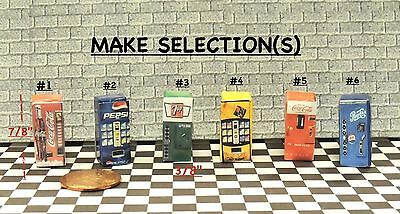 Choose any Two(2) Vending Machine for 1:64 Scale Diorama scenery.