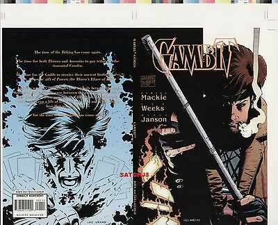 Gambit Original Cover Proof Comic Production Art X-Men Marvel Comics Lee Weeks