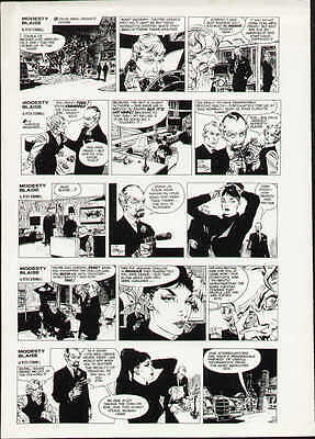 1964 Modesty Blaise Original Proof Page Production Art Peter O'donnell Holdaway