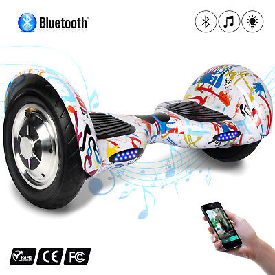 "10"" Patinete Bluetooth Monociclo Scooter Eléctrico self balancing overboard"