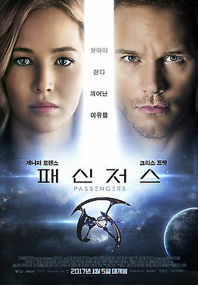 Passengers Jennifer Lawrence 2016 Korean Mini Movie Posters Movie Flyers A4 Size
