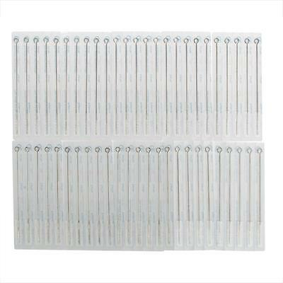 5RL 50Pcs Tattoo Needles Disposable Machine Stainless Steel Sterile Round Shader