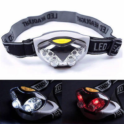 1500LM 3 Modes 6 LED Head Lamp Light Torch Fishing Headlamp Headlight Camping