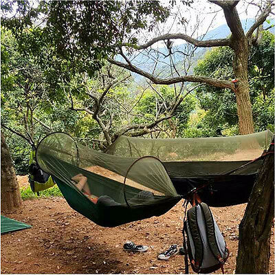 Portable Strength Camping Hammock Hanging Bed With Mosquito Net Outdoor Nylon