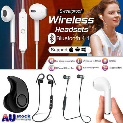 Wireless Bluetooth Sports Headset Headphone Earphones For iPhone 7 Samsung S8 AU