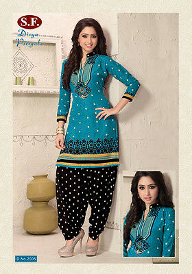 Salwar Kameez Patiala Ethnic Design Loose Dress Material Punjabi Unstitched 2006