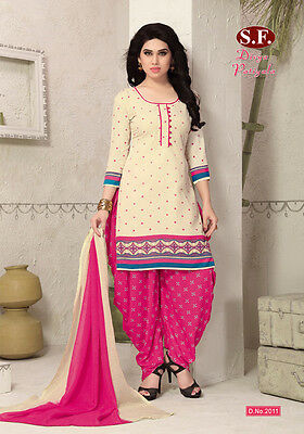 Salwar Kameez Patiala Ethnic Design Loose Dress Material Punjabi Unstitched 2011