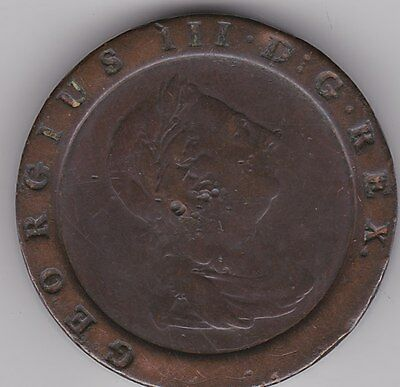Large 1797 George Iii Cartwheel Two Pence In Fine Condition