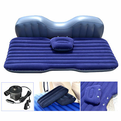 Car Auto Inflatable Airbed Mattress Rear Seat  Sleep Bed + 2 two Pillows new