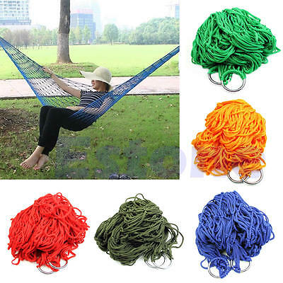 New Mesh Net Rope Outdoor Travel Camping Portable Hammock Hanging Sleeping Bed