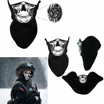Skull Moto Bike Motorcycle Helmet Neck Face Mask Paintball Ski Headband Protect