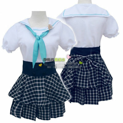 Anime Love Live Bird Navy Uniforms Girl Cosplay Cute Sailor Suit Mini Bow Dress