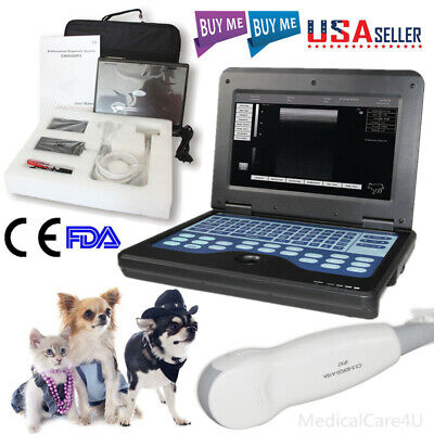 US Seller Veterinary Laptop Ultrasound Scanner Machine VET Micro Convex Probe