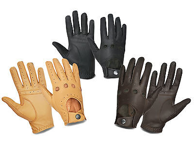 Full Finger Genuine Leather Men'S Driving Gloves Chauffeur Retro Gents Fashion