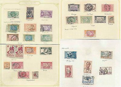 French Ivory Coast 1890-1950 Postmarks Study 32 Items Fine Used