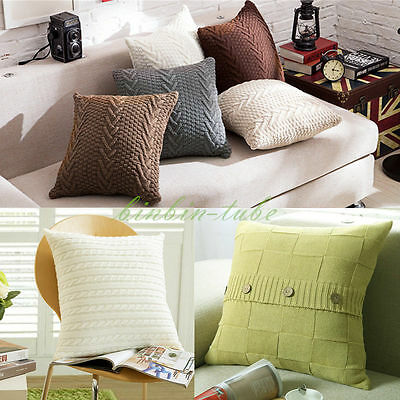45x45cm Nordic Style Knitting Knitted Pillow Case Cushion Cover Sofa Decoration