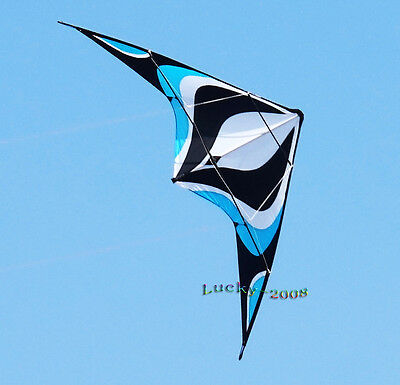 "Original design 70""X28"" Stunt Kite Dual-Line Control Outdoor Sports Toy BLUE"