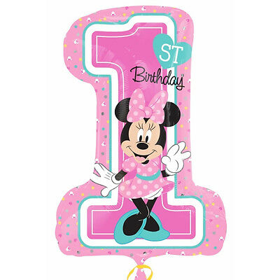 Minnie Mouse 1st Birthday SuperShape Foil Helium or Airfill Balloon Gift or Deco