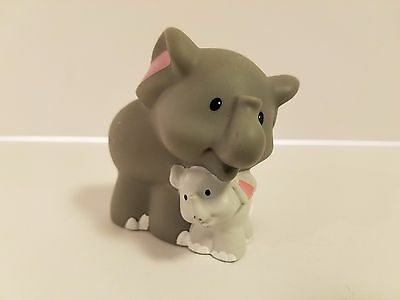 Fisher Price Little People Elephant With Baby Mom Zoo Noahs Ark Animals Safari