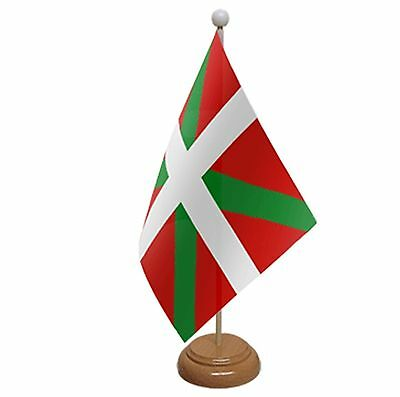 "Basque Table Flag 9""x6"" With Wooden Base Flags"
