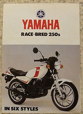 YAMAHA RACE BRED 250's Motorcycles Sales Brochure c1980? XS250 RD250LC XS250SE +