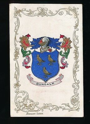 Ireland Co Louth DUNDALK Heraldic Series PPC Used 1905