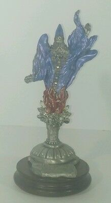 """Pewter Wizard with Crystals 10"""" by Sedlow / Masterworks 1991 Limited Ed Mint Exc"""