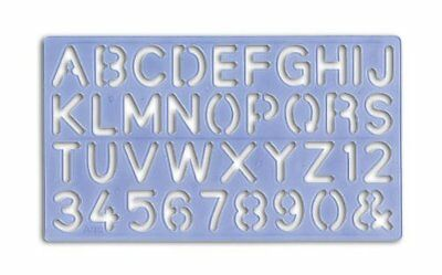 Plastic Lettering Stencil Kit Letters & Numbers Alphabet 5mm to 30mm 4 Templates